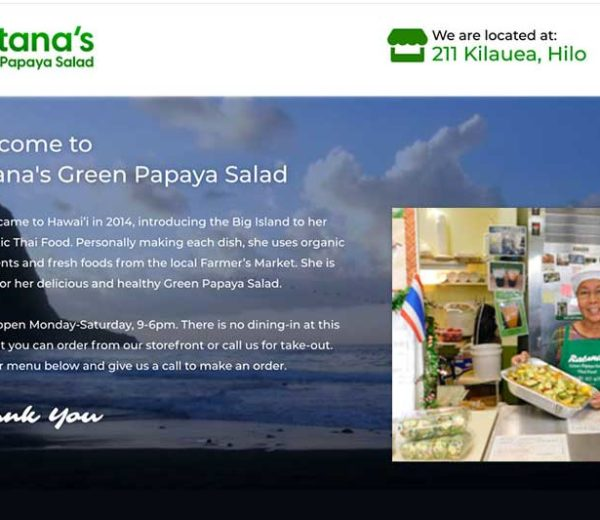 Ratana's Restaurant – Website